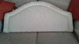 4 feet Headboard as new condition , cream colour.