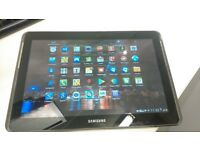 As new, Samsung galaxy tablet/phone. unlocked for all sim cards, charger.