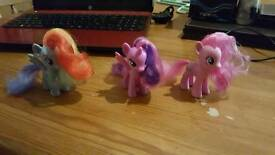 3 my little ponies pony's girl play toy pretend