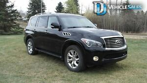 2012 Infiniti QX56 Base 7 Passenger (A7), MOONROOF, DVD PLAYERS,