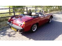 MG Midget, 77000 miles, Damask Red