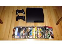 Sony PlayStation 3 Slim Charcoal Black Console (Excellent Condition)
