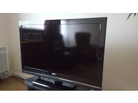 "SONY BRAVIA 40"" LCD Flat Screen TV and optional 2 shelf cabinet"