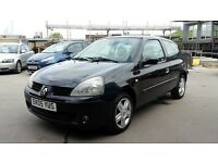 RENAULT CLIO EXTREME 1.2, 05 REG, FULL 12 MONTHS MOT, 3 MONTHS WARRANTY, JUST SERVICED 21/4/17