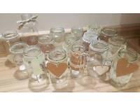 Wedding candle or Flower Jars