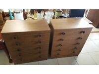 Pair Of Vintage Chest Drawers £25 Each