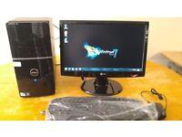 """SSD -Dell Vostro 220 MIDI TOWER Computer PC & 20"""" LG LCD -"""