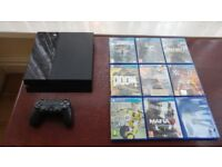 PS4 Console with Original Sony Controller & 10 games