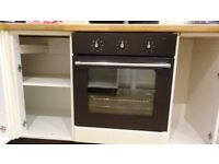 Ikea Single TJANILIG in dark grey n Assisted Electric Oven