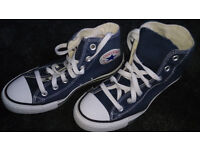 converse ladies size 6 high top, little use.