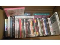 selection of books, dvds, wii games
