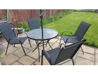 Garden chairs with table amd casirole