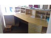 Extra Large Wooden Reception Desk. Shop Desk. Doctors Surgery Desk. Used VGC