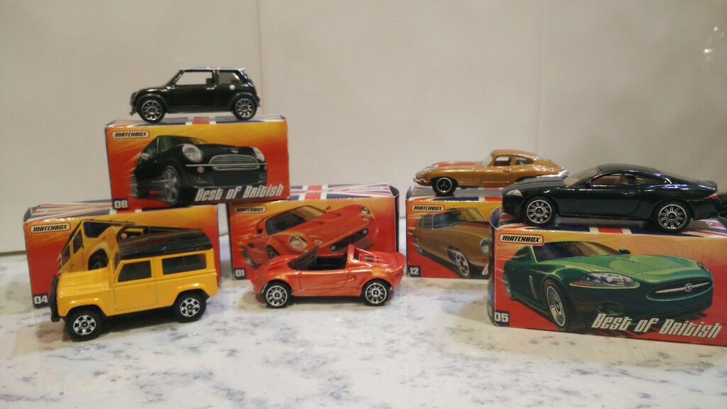MATCHBOX BEST OF BRITISH COLLECTABLE CARS - BOXED
