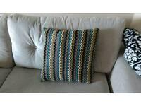 Feather stuffed throw cushions x 2 - new