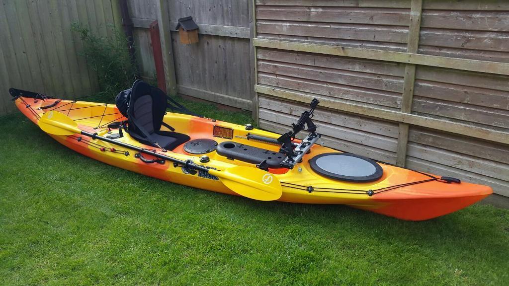 Galaxy sturgeon 13ft sit on top fishing kayak in for Used fishing kayak sale