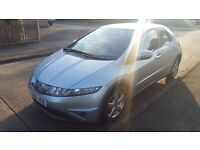 Silver Honda Civic iShift Model 1.8 litre 5dr AUTO with tiptronic / paddleshift gearbox