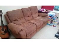 Cargo three seater recliner sofa