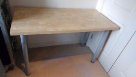 IKEA Table - 1.20x0.60m - light wood / grey