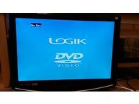 logik 22 inch tv dvd combi