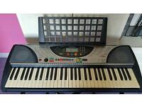 Yamaha PSR Full Size Keyboard with book stand, Stagg Music Keyboard Bag and Keyboard Stand