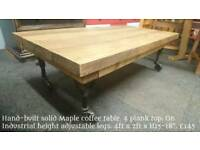Hand-built coffee table