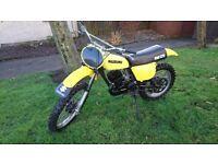 1975 suzuki rm125 twin shock motocross rare bike