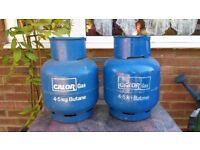 Butane Calor gas bottles 4.5kg x2