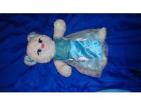Build a bear workshop Frozen Elsa bear and ice dress near mint condition