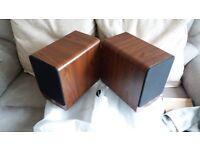 Q Acoustics 2020i bookshelf Speakers - Walnut And 5 year warranty