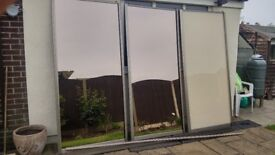 wardobe slidding doors x2 ,x1 beige colour never used