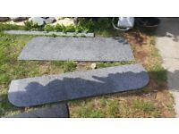 kitchen worktops / solid stone worktop / quartz £120 / granite £100