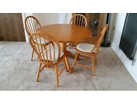 Pine Kitchen Table & Four Chairs