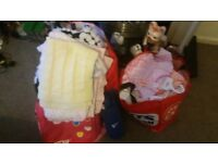 Baby clothes, mamas and papas 2 in 1 pushchair, baby blankets, baby carrier, bouncer, bath and seats