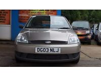 FORD FIESTA LX 2003 1.3 PETROL 5 DOOR HATCHBACK IN SILVER CHEAPEST ON GUMTREE