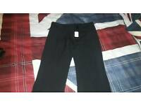 Ladys/girls smart black trousers, NEW