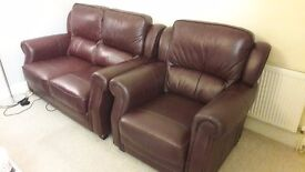 Harveys brown leather sofa (two seater and one seater) in excellent condition