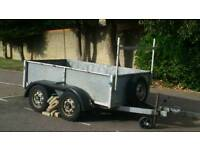 Twin Axle Trailer 8 x 4 ft with Ladder Rack