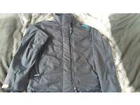 Mens navy superdry coat size small