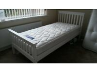 Single bed as new complete with mattress & duvets from pet and smoke free home.