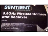 SENTIENT wireless camera and receiver FREE Delivery