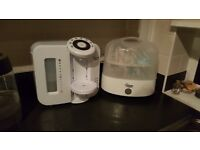Tommee Tippee Electric Steriliser and Perfect Prep Machine