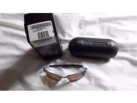 Mens oakley whisker titanium framed polarised sunglasses