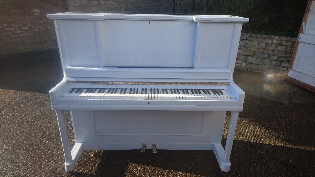 Restored Chappell overstrung piano in vintage blue