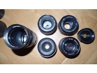Assorted Russian cameras and adon items