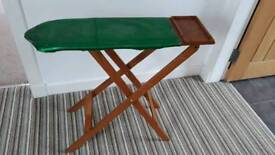 Wooden toy ironing board