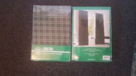 Celtic tartan curtains 54inch drop. Original packaging.