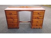 Pine Dressing Table with Drawers
