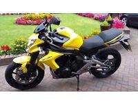 Kawasaki ER6N 2012 Yellow Low Mileage.
