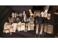 BARGAIN JOB LOT OF HOUSE PHONES MOST WITH ANSWER MACHINE OR CORDLESS. £20